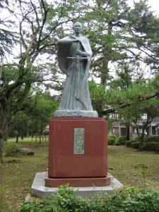 高山右近像 高岡古城公園(富山県)