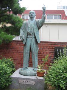 高山右近像 金沢教会(石川県)