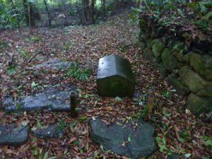 墓所内キリシタン墓のうちの1基